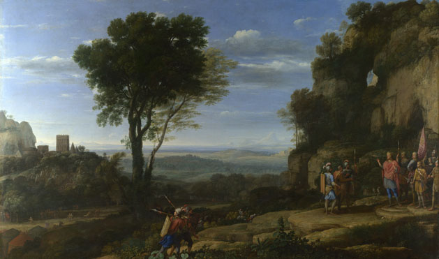 David and his followers at the cave at Adullam