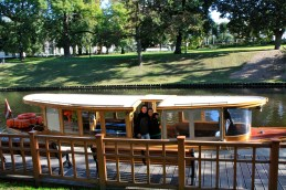 "The ""See Riga by Canal"" boat ..."