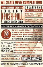 2014 WI State Open Powerlifting Competition