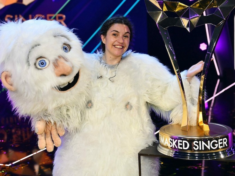 Nadine Beiler revealed as the Yeti and wins The Masked Singer Austria