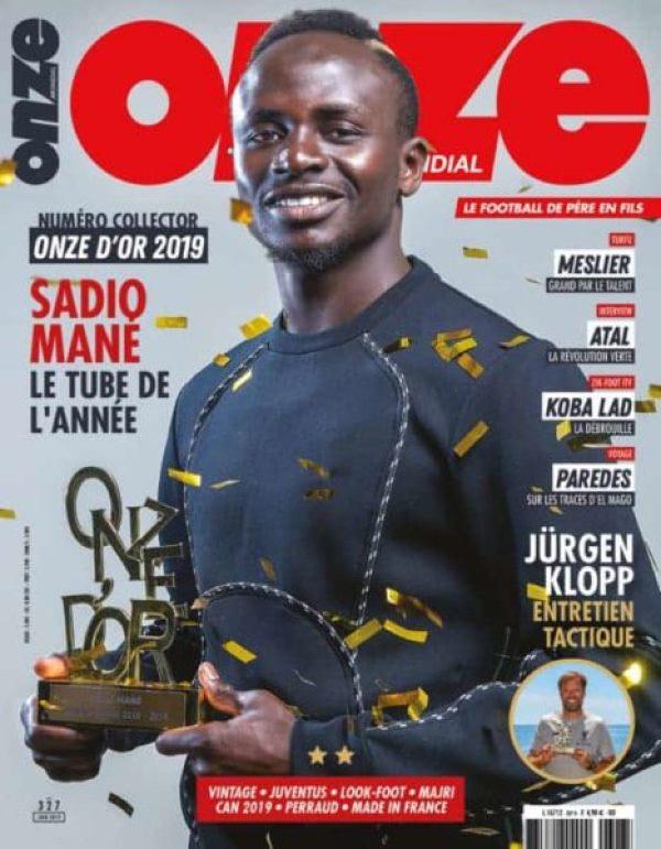 Onze-Mondial-Magazine-Juin-327-Couv-HD-RVB-600x771 (Vidéo) Sadio Mané remporte le « Onze d'Or 2019 », une première pour un africain depuis 2004 Gaindés