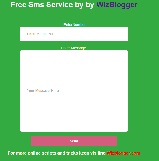 Free SMS To India|Free Anonymous SMS|Free Text Message To Anyone