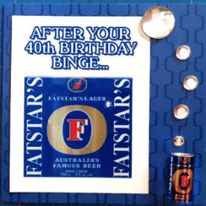 MisFitz Fosters Birthday Binge Greeting Card