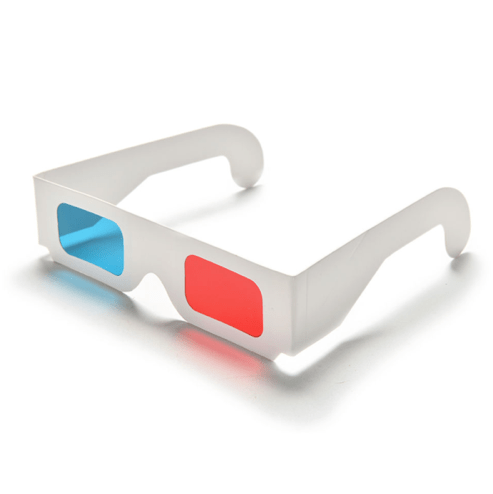 3D Anaglyph Red/Cyan Glasses