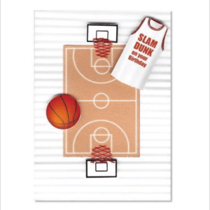 Slam Dunk BasketBall Sportz Greeting Card