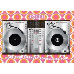DJ TURNTABLES AR CARD - PINK