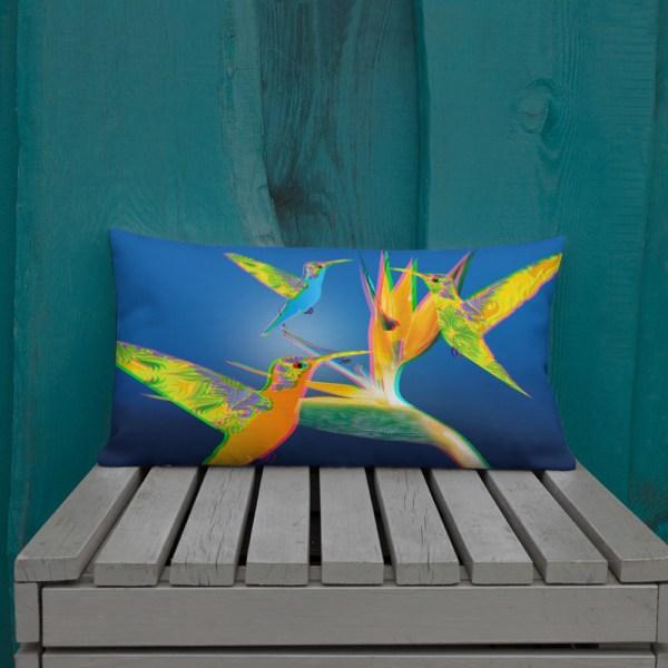 3D Humming Birds Cushion