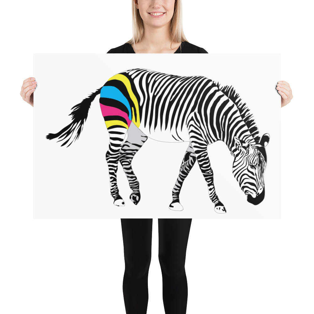 CMYK Zebra Print 24x36
