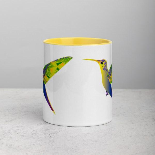 Mug White/Yellow Humming Birds