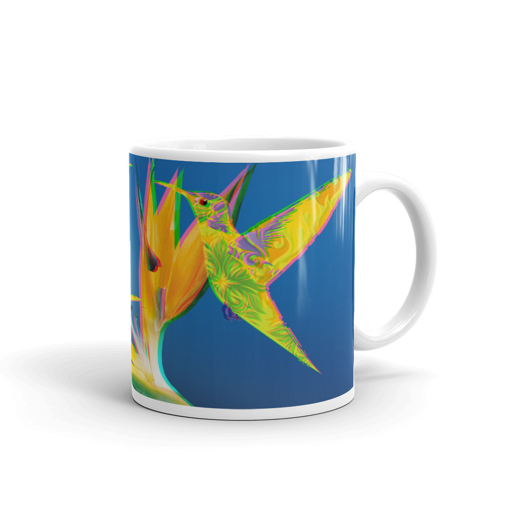 3D Humming Birds Mug