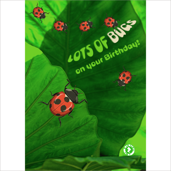 Birthday Bugs Augmented Reality Greeting Card