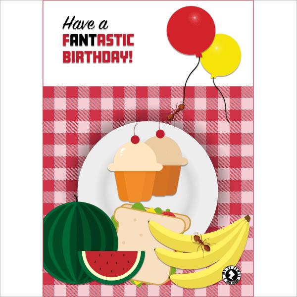 fANTastic Birthday AR Greeting Card