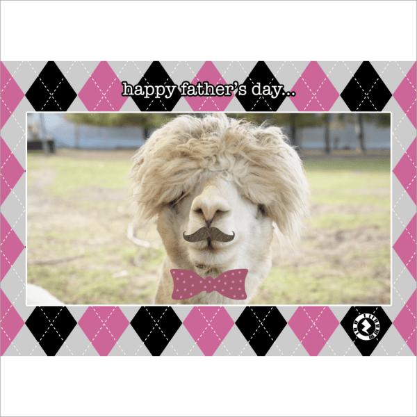 Father's Day Llama AR Greeting Card