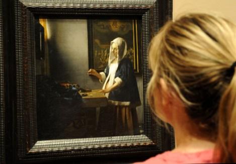 Przed obrazem w Galerii Narodowej w Waszyngtonie
