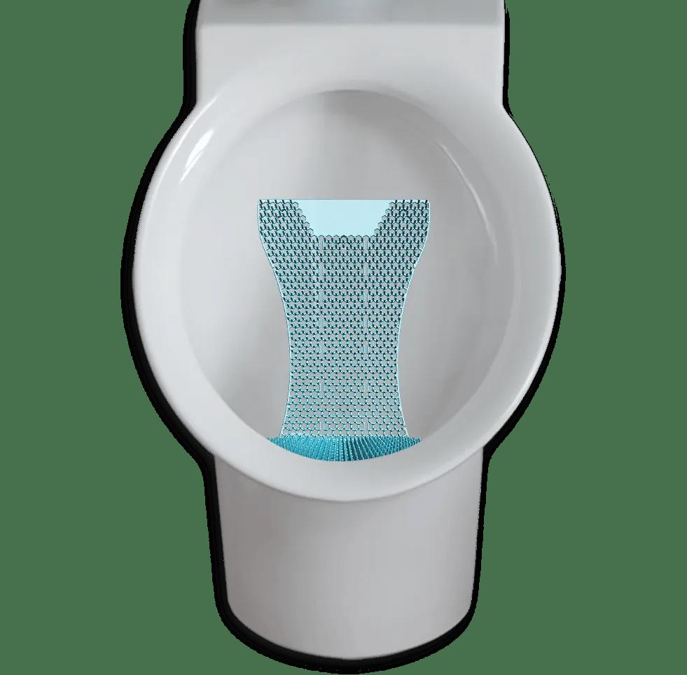 WizKid Products Mini Splash Hog Vertical Urinal Screen In A Compact Wall Mount Urinal