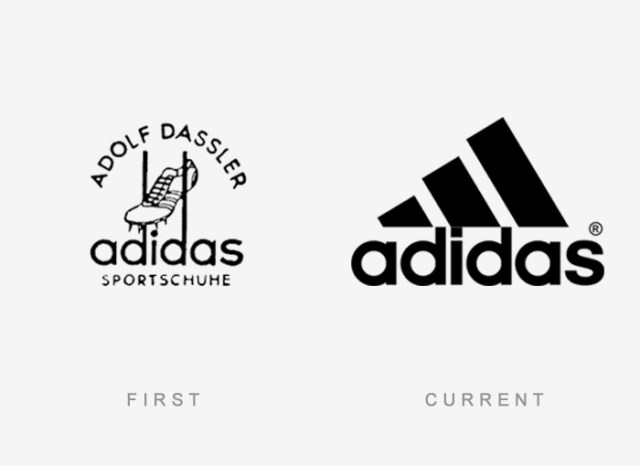 Adidas old and new logo