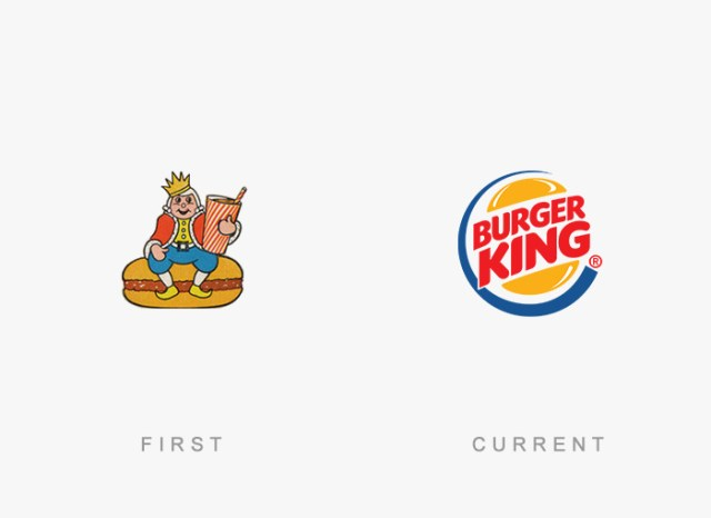 Burger King old and new logo