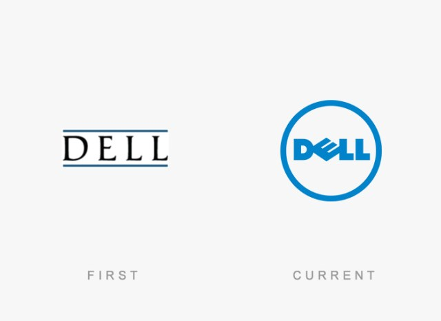 Dell old and new logo