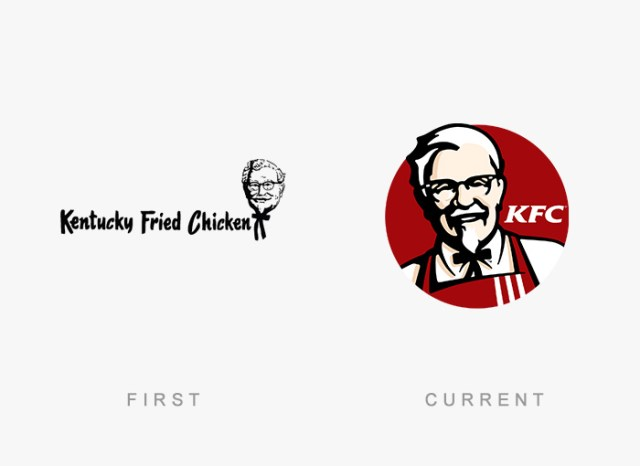 KFC old and new logo