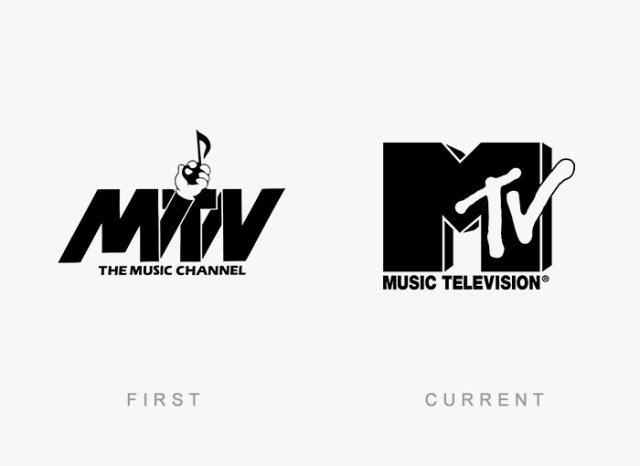 Mtv old and new logo