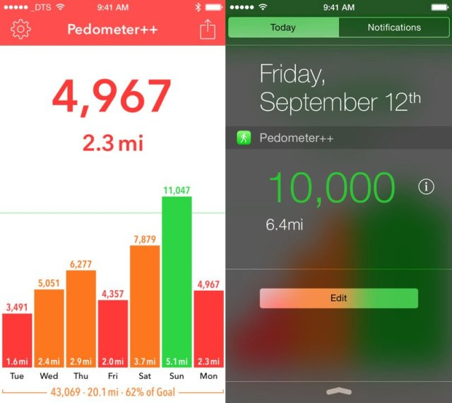 Pedometer++ is a great way to keep track of your daily fitness.