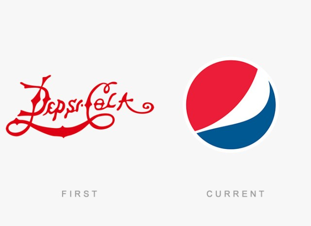Pepsi old and new logo