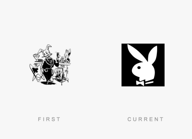 Playboy old and new logo