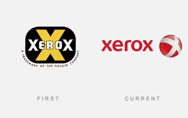 Xerox old and new logo