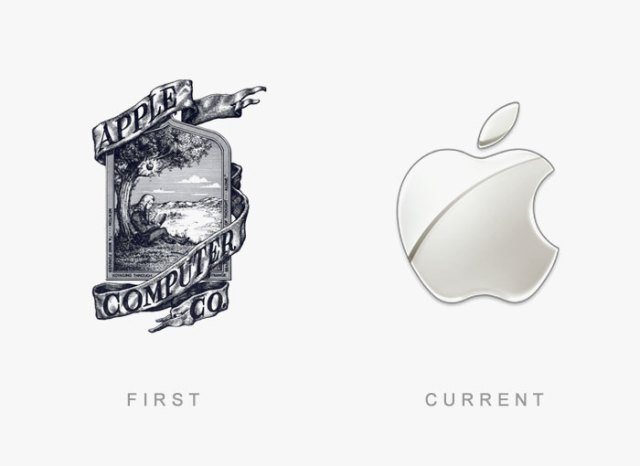 apple old and new logo