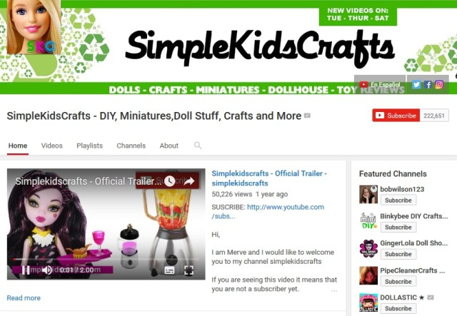 Simple Kids Crafts Youtube Channel