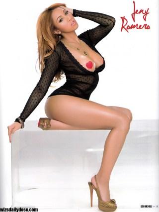 Jeny Romero2 Show Magazine Black Lingerie.thewizsdailydose