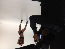 Laura Dore behind the scenes with Jose Guerra3.thewizsdailydose