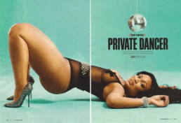 Kyra-CHaos-laying-on-the-floor-showing-off-her-sexy-curves-in-black-lingerie-in-her-shoot-with-XXL-Magazine