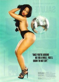 Kyra-Chaos-showing-off-her-phat-ass-by-a-disco-ball-in-her-sexy-shoot-with-XXL-Magazine