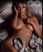 Kim Kardashian Goes Totally Nude as British GQ's Woman of the Year 003