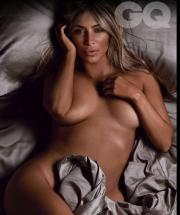 Kim Kardashian Goes Totally Nude as British GQ's Woman of the Year 003