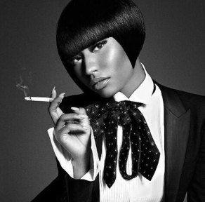 Nicki-Minaj-shirt-and-tie-002-L'Uomo-Vogue-Italia-wizsdailydose.com