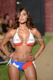 Iesha Marie walks runway at Wet Couture Swimwear Show during Funkshion Fashion Week Miami Beach Swim 2013 at Miami Beach, FL on July 18, 2012