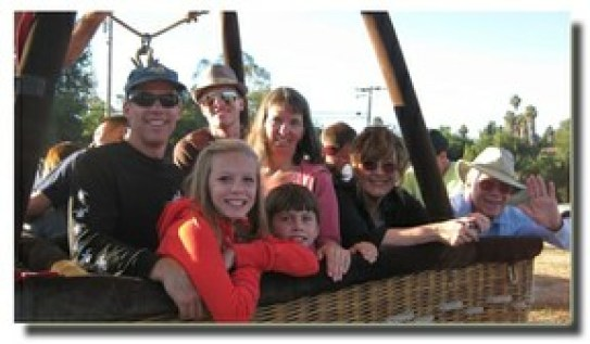 Hicks Family In Balloon Gondola