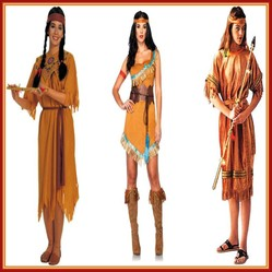 Native American Indian Costumes Of Women Teens And Small
