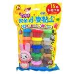 忍者兔安全小麥黏土:15色創意玩樂澎派包
