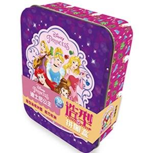 造型拼圖盒 迪士尼公主 (鐵盒30片)