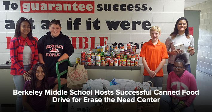Berkeley Middle School Hosts Successful Canned Food Drive for Erase the Need Center