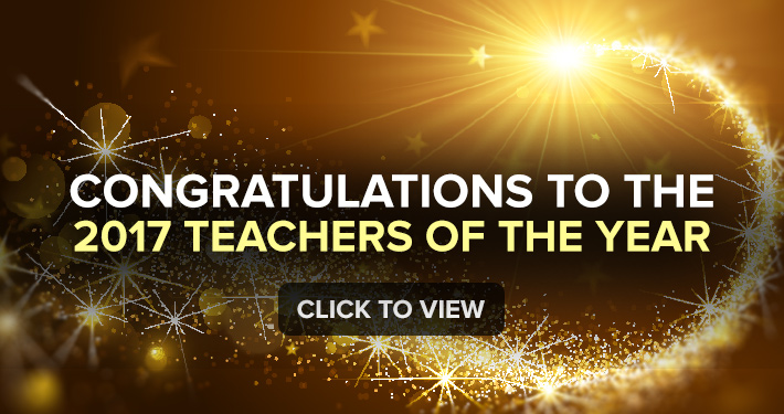 Congratulations to the 2017 Teachers of the Year