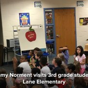 Senator Tommy Norment speaks to a group of 3rd grade students at Laurel Lane Elementary