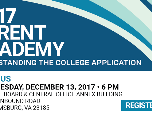 Understanding the College Application - December 13 at 6 pm - School Board & Central Office Annex