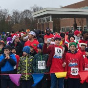 Students line up to begin the Sleighbell 5K