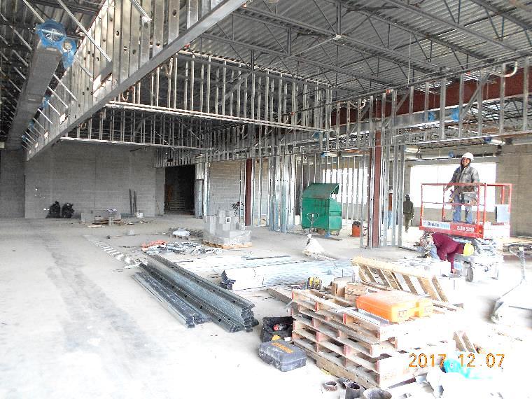 interior metal framing. Interior Light-gauge Metal Framing In Unit B3. Seeing The Core Classroom  Area Interior