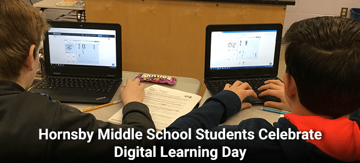 Hornsby Middle School Students Celebrate Digital Learning Day