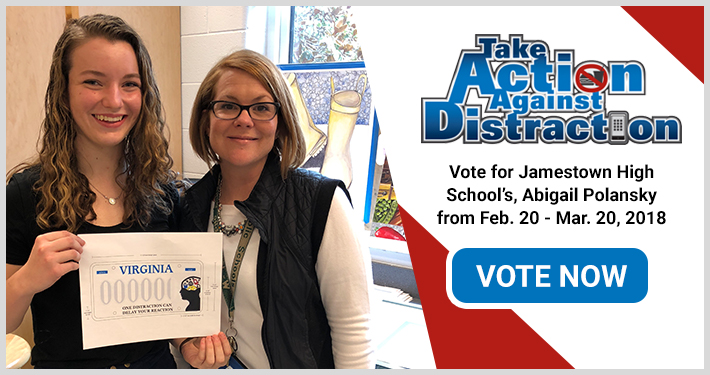 Vote for Jamestown High School's, Abigail Polansky from Feb. 20 - Mar. 20, 2018